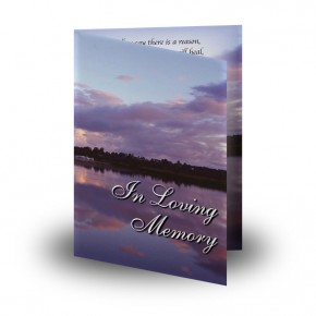 Lower Lough Erne Sunrise Co Fermanagh Folded Memorial Card