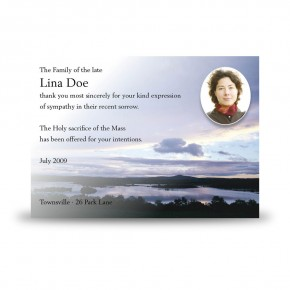 Lower Lough Erne Co Fermanagh Acknowledgement Card