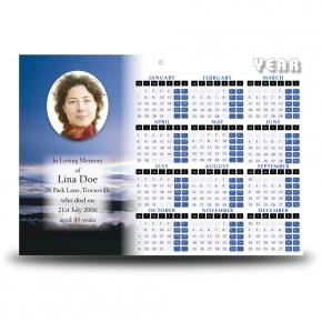 Lower Lough Erne Co Fermanagh Calendar Single Page