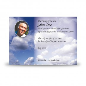 Sky Clouds Acknowledgement Card