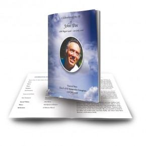 Sky Clouds Funeral Book