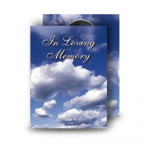 Sky Clouds Standard Memorial Card