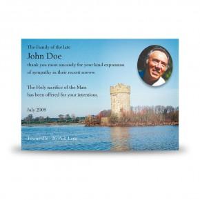 Gad Island Co Fermanagh Acknowledgement Card