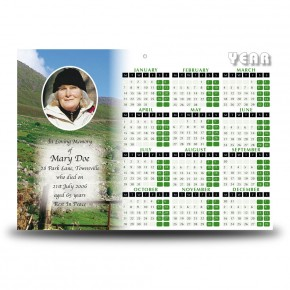 Field of Athenery Calendar Single Page