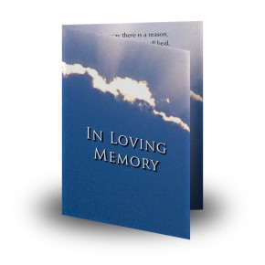 Cloudburst Back Folded Memorial Card