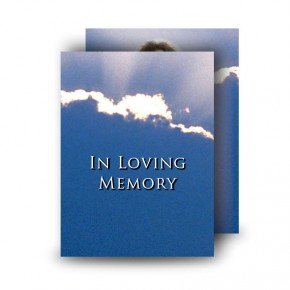 Cloudburst Back Standard Memorial Card