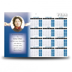 Cloudburst Back Calendar Single Page