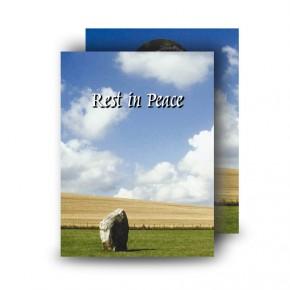 Standing Stones Co Kildare Standard Memorial Card