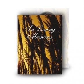 Wheat Sunset Standard Memorial Card