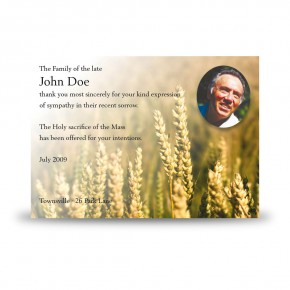 Wheat Co Carlow Acknowledgement Card
