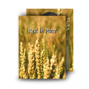 Wheat Co Carlow Standard Memorial Card