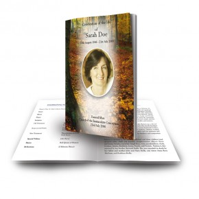 Autumn Funeral Book