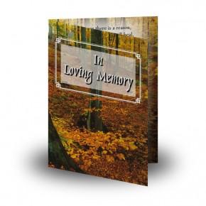 Autumn Folded Memorial Card