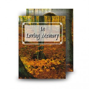Autumn Standard Memorial Card