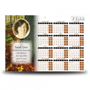 Autumn Calendar Single Page