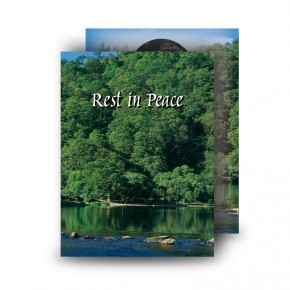 River & Trees Co Roscommon Standard Memorial Card