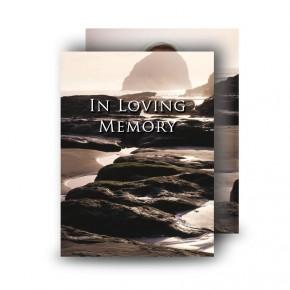 Sea Rocks Co Wexford Standard Memorial Card