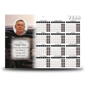 Sea Rocks Co Wexford Calendar Single Page