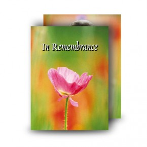 Poppy Flower Standard Memorial Card