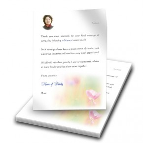 Poppy Flower Thank You Letter