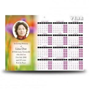 Poppy Flower Calendar Single Page