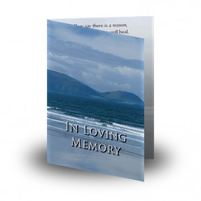 Sea Hills Clouds Co Limerick Folded Memorial Card