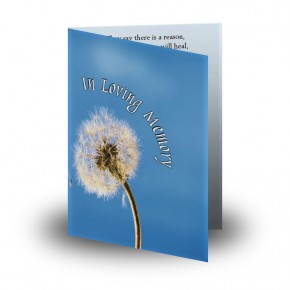 Dandelion Folded Memorial Card