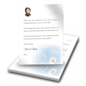Dandelion Thank You Letter