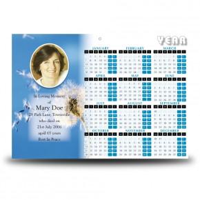 Dandelion Calendar Single Page