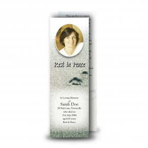 Footsteps In The Sand Bookmarker