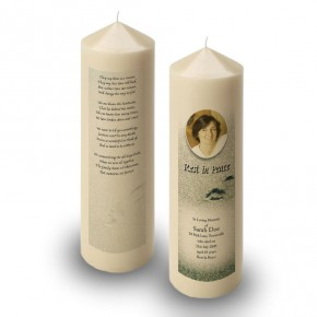 Footsteps In The Sand Candle