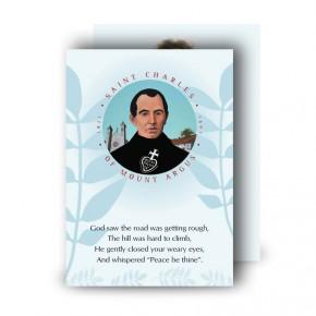 Saint Charles Standard Memorial Card