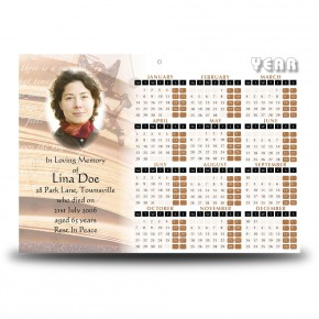 Our Little Angel Calendar Single Page