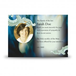 Blue Tulips Acknowledgement Card