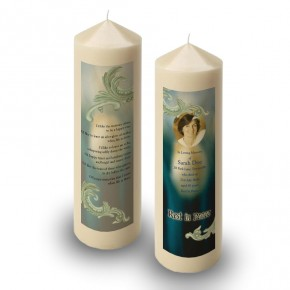 Blue Tulips Candle