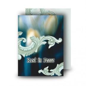 Blue Tulips Standard Memorial Card