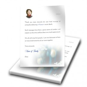 Blue Tulips Thank You Letter