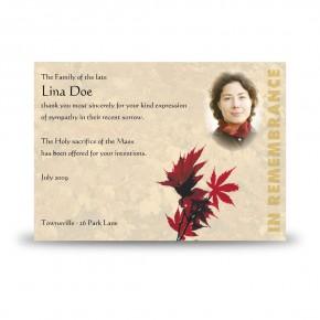 Tree Seasons Acknowledgement Card