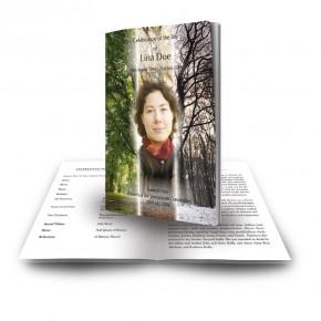 Tree Seasons Funeral Book
