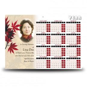 Tree Seasons Calendar Single Page