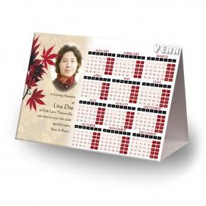 Tree Seasons Calendar Tent