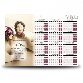 A Softer Paper Calendar Single Page