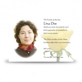 Summer Rose Blossom Acknowledgement Card
