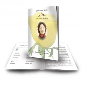 Summer Rose Blossom Funeral Book
