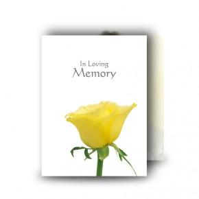 Summer Rose Blossom Standard Memorial Card