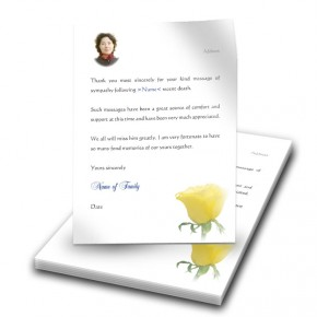 Summer Rose Blossom Thank You Letter