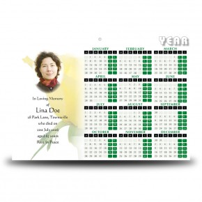 Summer Rose Blossom Calendar Single Page