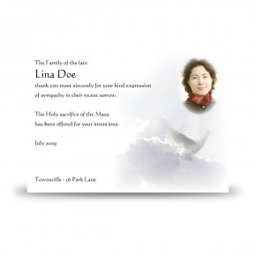 Watching Over You Acknowledgement Card