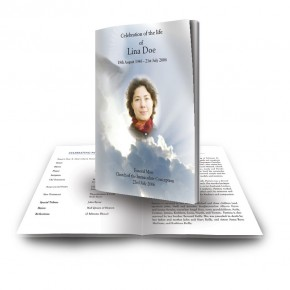 Watching Over You Funeral Book