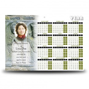 Crafted Symbols Co Louth Calendar Single Page